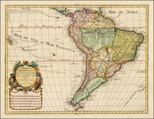 South America Map By Jeremias Wolff