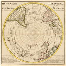 Southern Hemisphere, Polar Maps, Australia and New Zealand Map By Hendrick De Leth