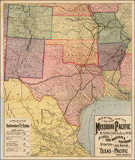 South, Texas, Plains, Southwest and Mexico Map By Rand McNally & Company