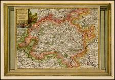 Luxembourg Map By Pieter van der Aa