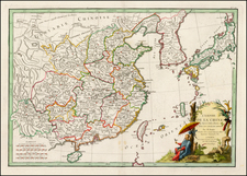 China, Japan and Korea Map By Jean Lattré