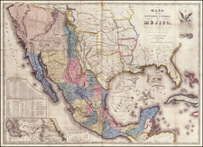 Florida, South, Texas, Plains, Southwest, Rocky Mountains, Mexico and California Map By John Disturnell