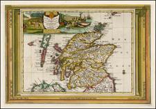 Scotland Map By Pieter van der Aa