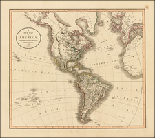 South America and America Map By John Cary