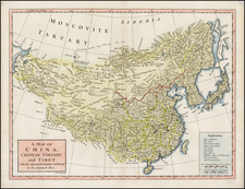 China and Central Asia & Caucasus Map By Richard William Seale