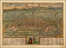 Italy Map By Georg Braun  &  Frans Hogenberg