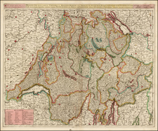 Switzerland Map By Gerard & Leonard Valk