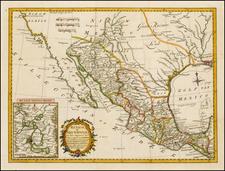 Texas, Southwest, Mexico and Baja California Map By Thomas Kitchin