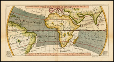 World, World, Atlantic Ocean, Africa and Africa Map By Jacques Nicolas Bellin