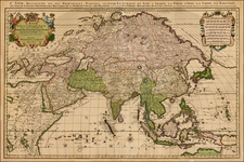 Asia and Asia Map By Cornelis Mortier