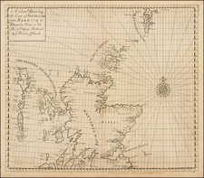 Scotland Map By John Senex / Edmund Halley / Nathaniel Cutler