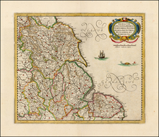 British Isles, England and British Counties Map By Henricus Hondius - Jan Jansson