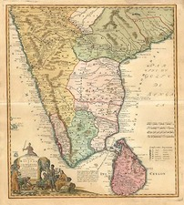 Asia, India and Southeast Asia Map By Homann Heirs