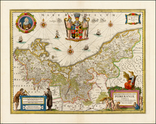 Germany and Baltic Countries Map By Henricus Hondius - Jan Jansson