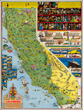 California Map By Jo Mora