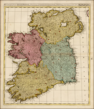 Ireland Map By Gerard & Leonard Valk
