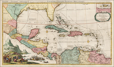 Florida, South, Southeast, Texas, Caribbean and Central America Map By Pieter Mortier