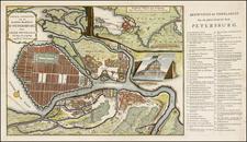 Russia Map By Johann Matthias Hase / Johannes Broedelet