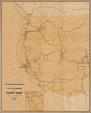 Southwest, Rocky Mountains and California Map By United States Treasury Department