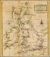 British Isles Map By Herman Moll