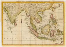 China, India, Southeast Asia and Philippines Map By Anonymous