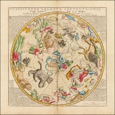 Celestial Maps Map By Nicolas de Fer / Guillaume Danet