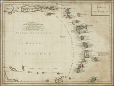 Caribbean Map By Pierre Antoine Tardieu