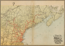 New England Map By Rand, Avery & Co.