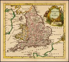 British Isles and England Map By Thomas Jefferys