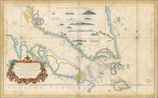 Southeast Asia Map By Jacques Nicolas Bellin / Depot de la Marine