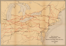 New England, Mid-Atlantic and Midwest Map By United States GPO