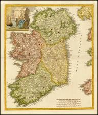Ireland Map By Giambattista Albrizzi