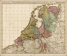 Netherlands Map By Gerard & Leonard Valk