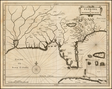 Florida, South and Southeast Map By Joannes De Laet