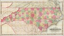 North Carolina Map By G.W.  & C.B. Colton