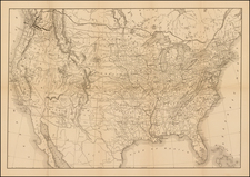 United States Map By Flemming, Brewster & Alley