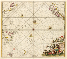 Japan, Other Islands, Australia & Oceania, Pacific, Australia, Oceania, New Zealand, Other Pacific Islands and California Map By Frederick De Wit