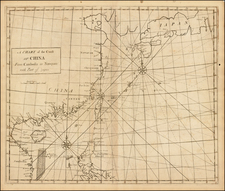 China, Japan, Southeast Asia and Philippines Map By John Senex / Edmund Halley / Nathaniel Cutler