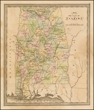 South and Alabama Map By Jeremiah Greenleaf