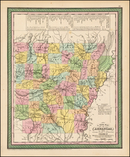 South and Arkansas Map By Thomas, Cowperthwait & Co.