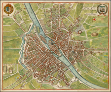 France Map By Matthaus Merian