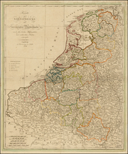 Netherlands Map By Johann Walch