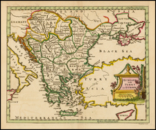 Hungary, Balkans, Greece and Turkey Map By Thomas Jefferys