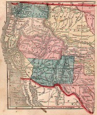 United States, Southwest and Rocky Mountains Map By Sidney Morse  &  Samuel Gaston