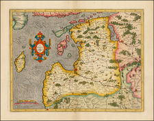 Poland and Baltic Countries Map By Henricus Hondius /  Gerard Mercator