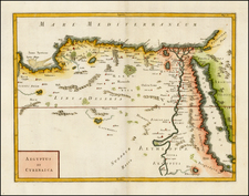 Egypt and North Africa Map By Christoph Cellarius