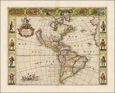 America Map By Frederick De Wit