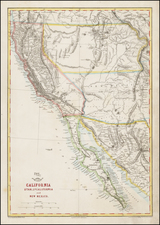 Southwest, Rocky Mountains, Baja California and California Map By Theodore Ettling / Weekly Dispatch