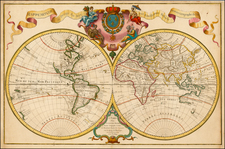 World and World Map By Guillaume De L'Isle