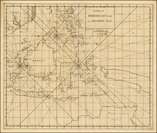 Southeast Asia, Philippines and Australia Map By John Senex / Edmund Halley / Nathaniel Cutler